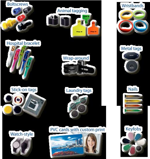 Ejemplos de tags NFC