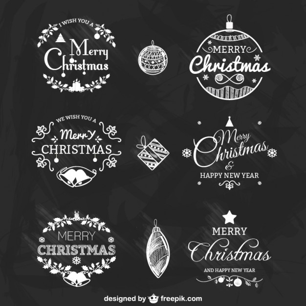 black-and-white-christmas-badges-pack_23-2147498663